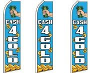 Cash 4 Gold King Size Swooper Flag Pack Of 3 Hardware Not Included
