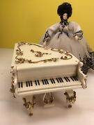 Vintage Spielwaren Piano Dollhouse Miniature With Music Box Made In Swiss
