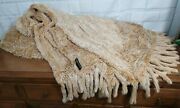 Grinvest. It Milano Italy Authentic Rabbit Fur Beige Comforter Blanket 90 X 90
