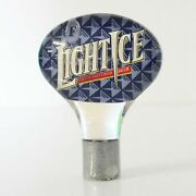Fosters Light Ice Beer Screw On Tap Top Knob Collectable Old Man Cave Bar Used