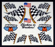 Rc Car Decals, 1/10th, Checkered Flags, Late Models, Street Stocks, Dirt Oval