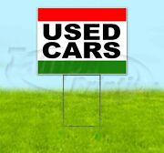 Used Cars 18x24 Yard Sign Corrugated Plastic Bandit Lawn Business Usa
