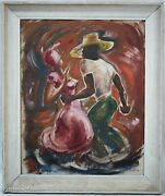 Stunning Mid Century Oil Painting Of Calypso Dancers Signed And Dated 1952, Exc