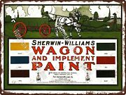 Sherwin Williams Wagon Paint Chart Thick Horse Metal Sign 9x12 A382