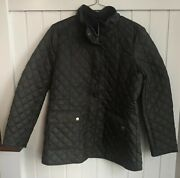 Lucky Brand Womenand039s Quilted Barn Jacket Size Medium Nwt Army Green Zipper Front