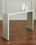 Interlude Home Handcrafted Farrah Bone Inlay Console Table Neiman Marcus Horchow