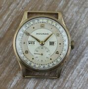 Movado Triple Calendar Windup 9ct Solid Gold Menand039s Watch - Rare