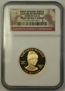 2008-w Elizabeth Monroe First Spouse 1/2 Oz 9999 Gold 10 Coin Ngc Pf-69 Jab