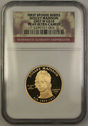 2007-w Dolley Madison First Spouse 1/2 Oz 9999 Gold 10 Coin Ngc Pf-69 Jab