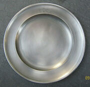 Collectible Handcrafted John Somers Brazil Js X Mg Pewter 11 Plate Mint