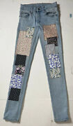 Preowned- Cheap Monday Stretch Patchwork Denim Jeans Womens Size 26x32