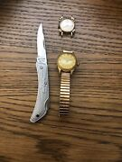 Rare Vintage Jewelry Lot Silver, 10 K Gold Watches Swiss Made.