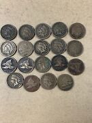 Lot Of 19 Flying Eagles And Indian Head Pennies