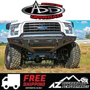 Add Honeybadger Front Bumper Black For 2015-2017 Ford F150
