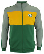 Outerstuff Nfl Youth Boys Performance Full Zip Stripe Jacket Green Bay Packers