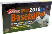 2019 Topps Heritage Minor League Baseball Hobby 12 Box Case Blowout Cards
