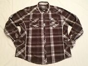 Bke Plaid Western Pearl Snap L/s Button Front Dress Shirt Menand039s Size Xxl