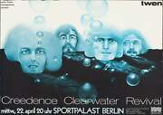 Creedence Clearwater Revival German A1 Concert Poster 1970 Very Rare