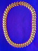 Gold Plated Necklace 1945-1949 Marked Trifari Pat. Pending Excellent Vintage