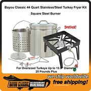 Thanksgiving Turkey Fryer Complete Stainless Steel Kit 25+ Lb Bayou Classic
