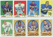 1969-1972 Topps 4 Different Minnesota Vikings Partial Team Sets 29 Cards