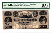 5 Obsolete Note New York Ny Spurious Pmg About Uncirculated 55 Y00005896