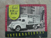 1930's Ih Brochure D30 And Ds30 International Harvester Pittsburg Paint 7up