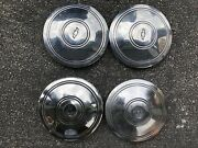 Chevrolet Hubcaps-set Of Four-small Size-chrome With The Chevy Bowtie In Center
