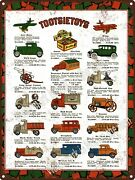 1931 Tootsietoy Toy Trucks Overland Bus Ford Coup Box Metal Sign 9x12 A448
