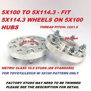 2pc 1 Wheel Adapters | 5x100 To 5x114.3 5x4.5 | 54.1mm To 56.1mm | Hub Centric