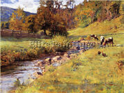 Theodore Clement Steele Tennessee Scene Artist Painting Reproduction Handmade