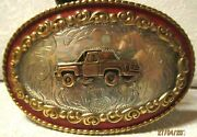 Comstock Silversmiths Sterling Silver Front Step-side Pick Up Truck Belt Buckle