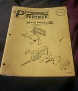 Vintage Pioneer Partner Chainsaw Parts Price List Book 1987 Emab Canada