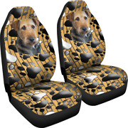 Airedale Terrier Dog - Set Of 2 Front Seat Covers Protection Decoration