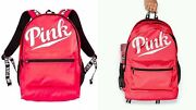 Victorias Secret Pink Graphic Neon Large Full Size Backpack Bag Carrie On Nwt