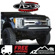 Add Honeybadger Front Bumper Black For 17-19 Ford Super Duty F250 F350