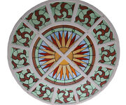 19 C. Stained Glass Window/ceiling Round 4817b