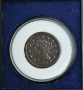 1849 Braided Hair Cent 1c Ef Quality With Morgan Mint Case     Rg366