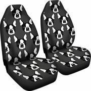 Boston Terrier - Set Of 2 Universal Front Seat Covers Protection