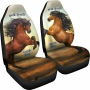 Wild Hearts Horse - Set Of 2 Universal Front Seat Covers Protection