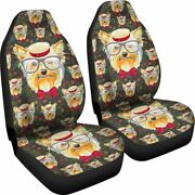 Yorkshire Terrier Dog - Set Of 2 Universal Front Seat Covers Protection