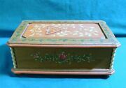 Anri Music Box...rare, Hand Carved And Painted Wooden Box...plays Dr Zhivago...