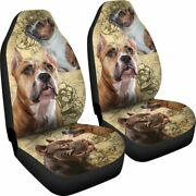 Staffordshire Bull Terrier Dog - Set Of 2 Universal Front Seat Covers Protection
