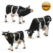 24pcs Model Trains 143 Scale O Scale Painted Pvc Cows Animals Railway Diorama