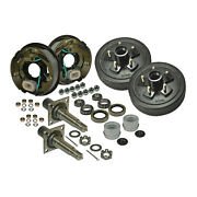 Trailer Axle Kit With Electric Brakes And 5-bolt Drums Akrd-3500545f-hd-e