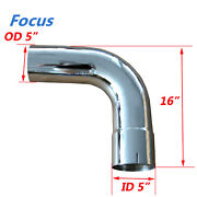 5 Id/od 90 Degree Chrome Exhaust Elbow - 15.5 Arms