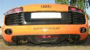 For Audi R8 Coupe Spyder V8 Real Carbon Rear Diffuser Cover Dtm Style