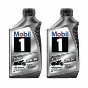 Mobil 1 V-twin 20w-50 Full Synthetic 4 Cycle Motorcycle Oil - 112630