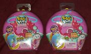 Two Dark Pink Mystery Packs Pikmi Pops Surprise Doughmis Plush Donut Ships Free