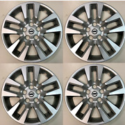 4 New 16 Silver Hubcap Wheelcover That Fits 2007-2018 Nissan Altima Hub Cap